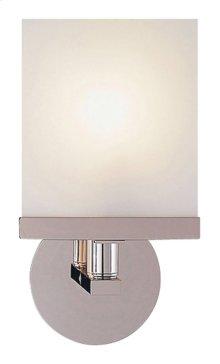 Visual Comfort S2003PN-WG Studio Shield 1 Light 7 inch Polished Nickel Bath Wall Light