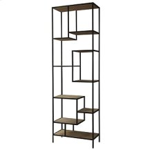 "Helena 102"" Bookcase-Ant Blch Seal/Wax B"