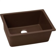 "Elkay Quartz Classic 24-5/8"" x 18-1/2"" x 9-1/2"", Single Bowl Undermount Sink, Pecan"