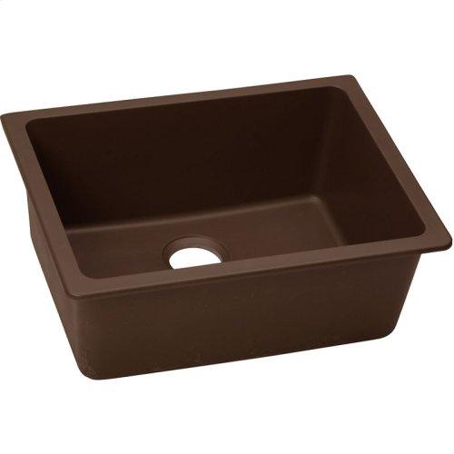 "Elkay Quartz Classic 24-5/8"" x 18-1/2"" x 9-1/2"", Single Bowl Undermount Sink, Pecan"