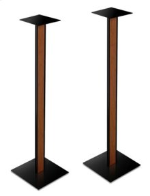 """30"""" Speaker Stands With Cherry Finish Wood"""