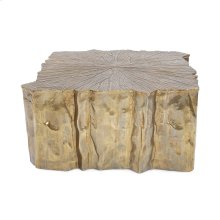 Antique Brass Faux Bois Coffee Table