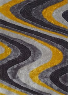 112 Gray Yellow Rug