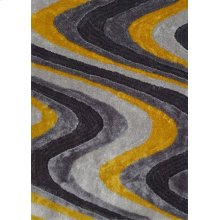 112 Gray Yellow Rug