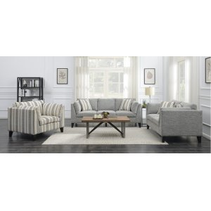 Emerald Home U3446-01-03 Elsbury Loveseat, Gray