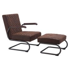 Father Lounge Chair Vintage Brown Product Image