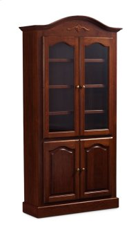 "Classic Arch Top Wide Bookcase, Glass Doors on Top and Wood Doors on Bottom, Classic Arch Top Wide Bookcase, Glass Doors on Top and Wood Doors on Bottom, 5-Adjustable Shelves, 45""w Product Image"
