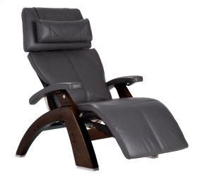 Perfect Chair PC-610 - Gray Premium Leather - Dark Walnut