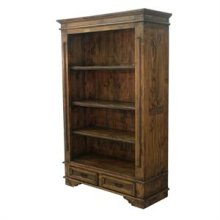 "Medio finish : 50"" x 19"" x 76"" Madrid Bookcase Medio"