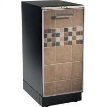 "15"" Compactor, tile inlay door pan, storage compartment and manual advance odor control system. 120V."