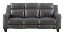 Emerald Home Beckett Power Motion Sofa With Power Headrests-gray Leather-u7143-41-03