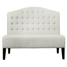 Uph Tufted Back Bench - Ivory White