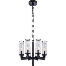 Visual Comfort KW5200BZ-CRG Kelly Wearstler Liaison 8 Light 21 inch Bronze Chandelier Ceiling Light, Kelly Wearstler, Single-Tier, Crackle Glass