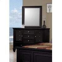 Sandy Beach Black Dresser Mirror Product Image
