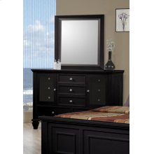 Sandy Beach Black Dresser Mirror