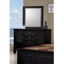 Sandy Beach Black Dresser Mirror