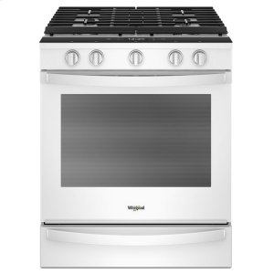 5.8 Cu. Ft. Smart Slide-in Gas Range with EZ-2-Lift Hinged Cast-iron Grates - WHITE