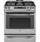 "GE Profile™ Series 30"" Slide-In Front Control Gas Range with Warming Drawer Product Image"