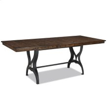District Table Dining Cast Metal Trest