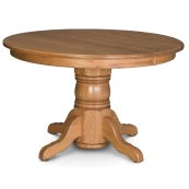 Traditional Single Pedestal Table, Solid Top