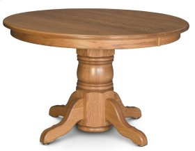 "Traditional Single Pedestal Table, 18"" Butterfly Leaf"