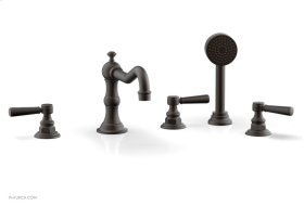 HENRI Deck Tub Set with Hand Shower with Lever Handles 161-49 - Oil Rubbed Bronze