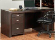 Contempo Executive Desk w/Letter File Drawers