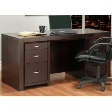 Contempo Executive Desk w/Letter File Drawers