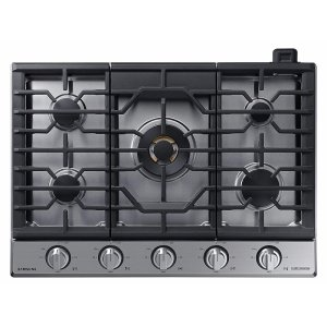 "Samsung Appliances36"" Chef Collection Gas Cooktop with 22K BTU Dual Power Burner in Stainless Steel"