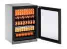 """Modular 3000 Series 24"""" Glass Door Refrigerator With Integrated Frame Finish and Field Reversible Door Swing Product Image"""