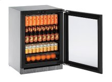 """Modular 3000 Series 24"""" Glass Door Refrigerator With Integrated Frame Finish and Field Reversible Door Swing"""