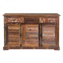 Reclaimed Wood Shutter Door Cabinet