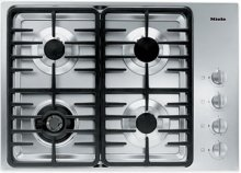 "30"" 4-Burner KM 3465 G Gas Cooktop - 30"" SS Cooktop Linear grate"