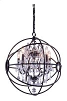 1130 Geneva Collection Pendent Lamp Dark Bronze Finish Product Image