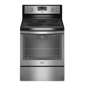 6.4 Cu. Ft. Freestanding Electric Range with AquaLift® Self-Cleaning Technology - BLACK-ON-STAINLESS