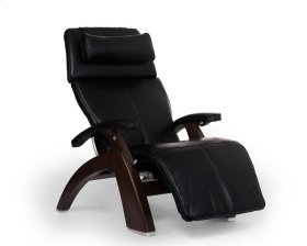 Perfect Chair PC-610 - Black Premium Leather - Dark Walnut