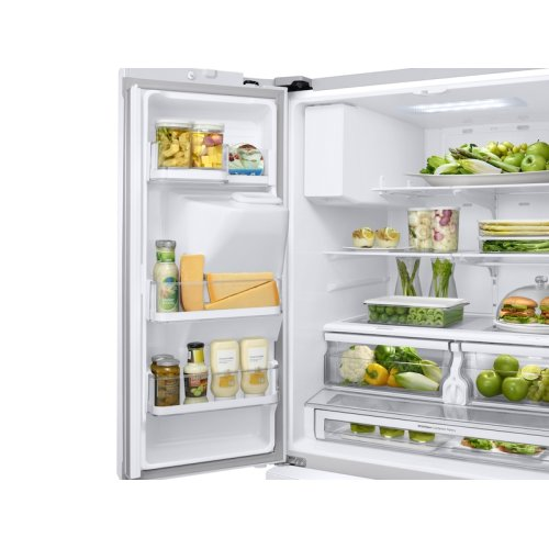 23 cu. ft. 3-Door French Door, Counter Depth Refrigerator with CoolSelect Pantry in White