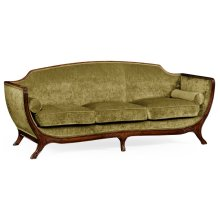 Empire Style Sofa (Walnut/Velvet Lime)