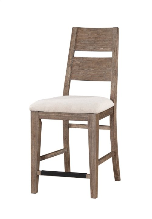 """Emerald Home Viewpoint 24"""" Barstool W/upholstered Seat Driftwood D977-24"""