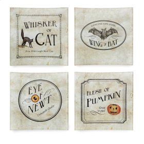 Apothescary Halloween Glass Plates 4 in Gift Box