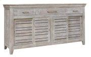 Bengal Manor Mango Wood 3 Drawer, 4 Sliding Door Grey Sideboard Product Image