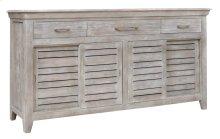 Bengal Manor Mango Wood 3 Drawer, 4 Sliding Door Grey Sideboard