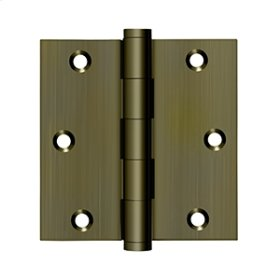 """3 1/2""""x 3 1/2"""" Square Hinge, Residential - Antique Brass"""