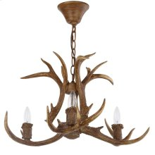 Makani 21.5-INCH Dia Antler Chandelier - Brown