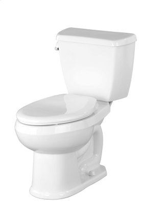 """White Avalanche® 1.6 Gpf 10"""" Rough-in Two-piece Elongated Toilet"""