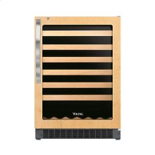 "24"" Custom Panel Wine Cellar - DFUW (Left Hinge Fluted Door)"