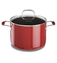 KitchenAid Aluminum Nonstick 8.0-Quart Stockpot with Lid - Empire Red