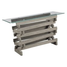Emerald Home Jenga Sofa Table Driftwood T833-02-k