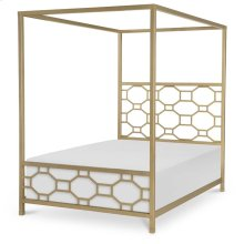 Metal Canopy Bed Full, 4/6