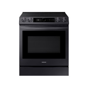 Samsung6.3 cu. ft. Front Control Slide-in Electric Range with Smart Dial, Air Fry & Wi-Fi in Black Stainless Steel